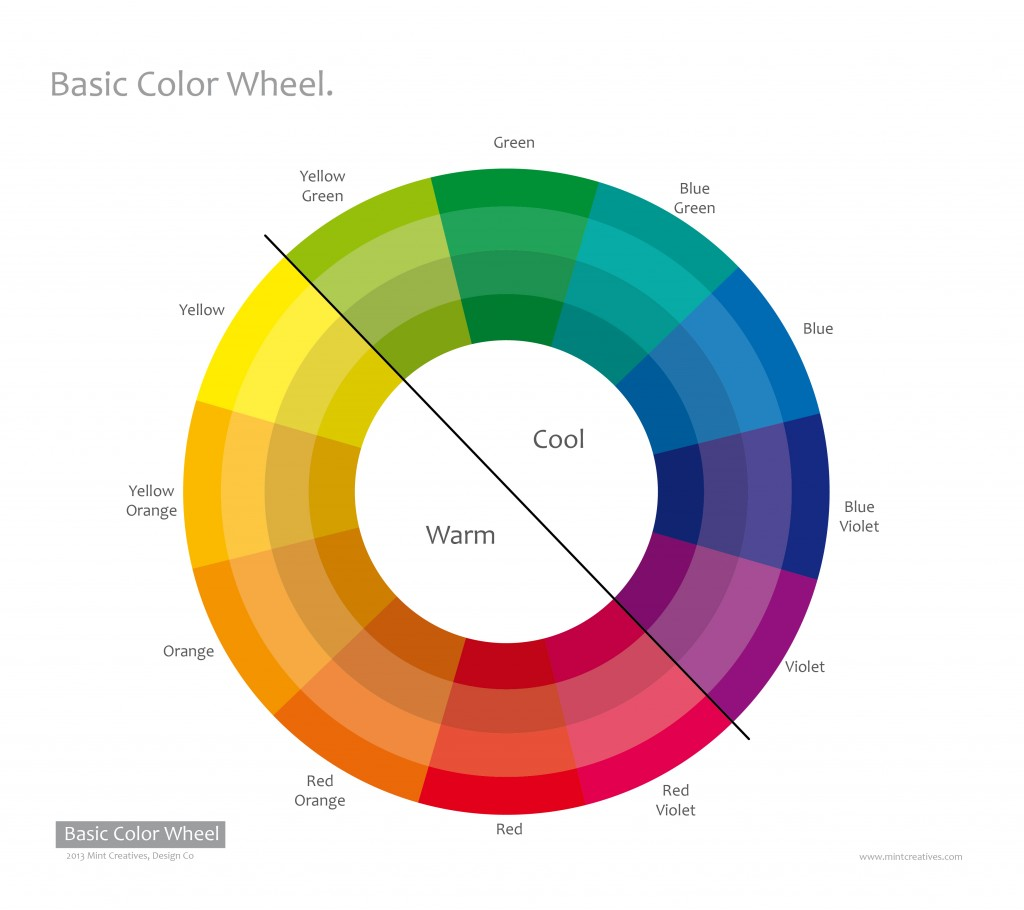 The color wheel mint creatives design co for Tone color definition