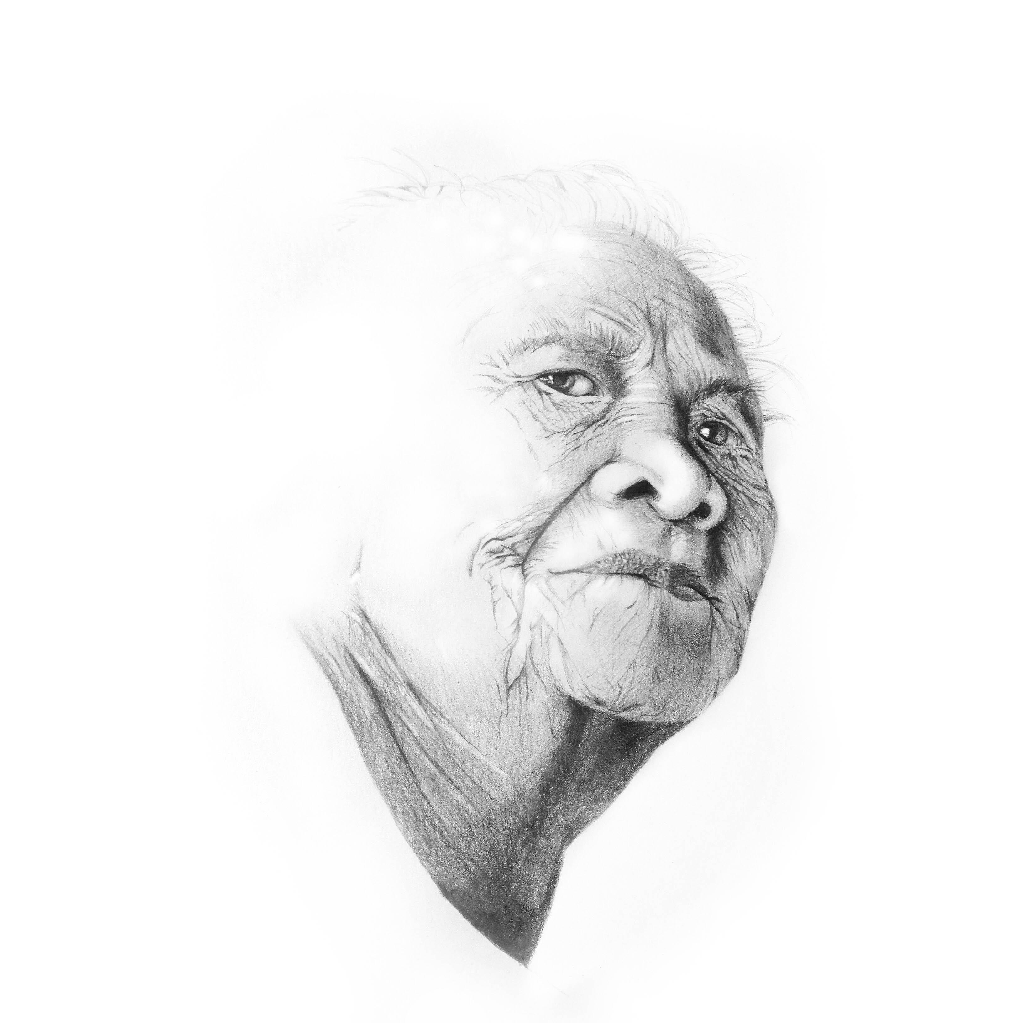 Pencil Illustration - Nanay Sasing Portrait