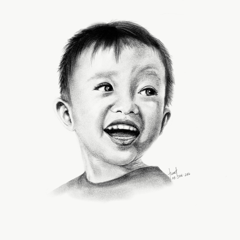 Pencil Illustration - Zian Portrait
