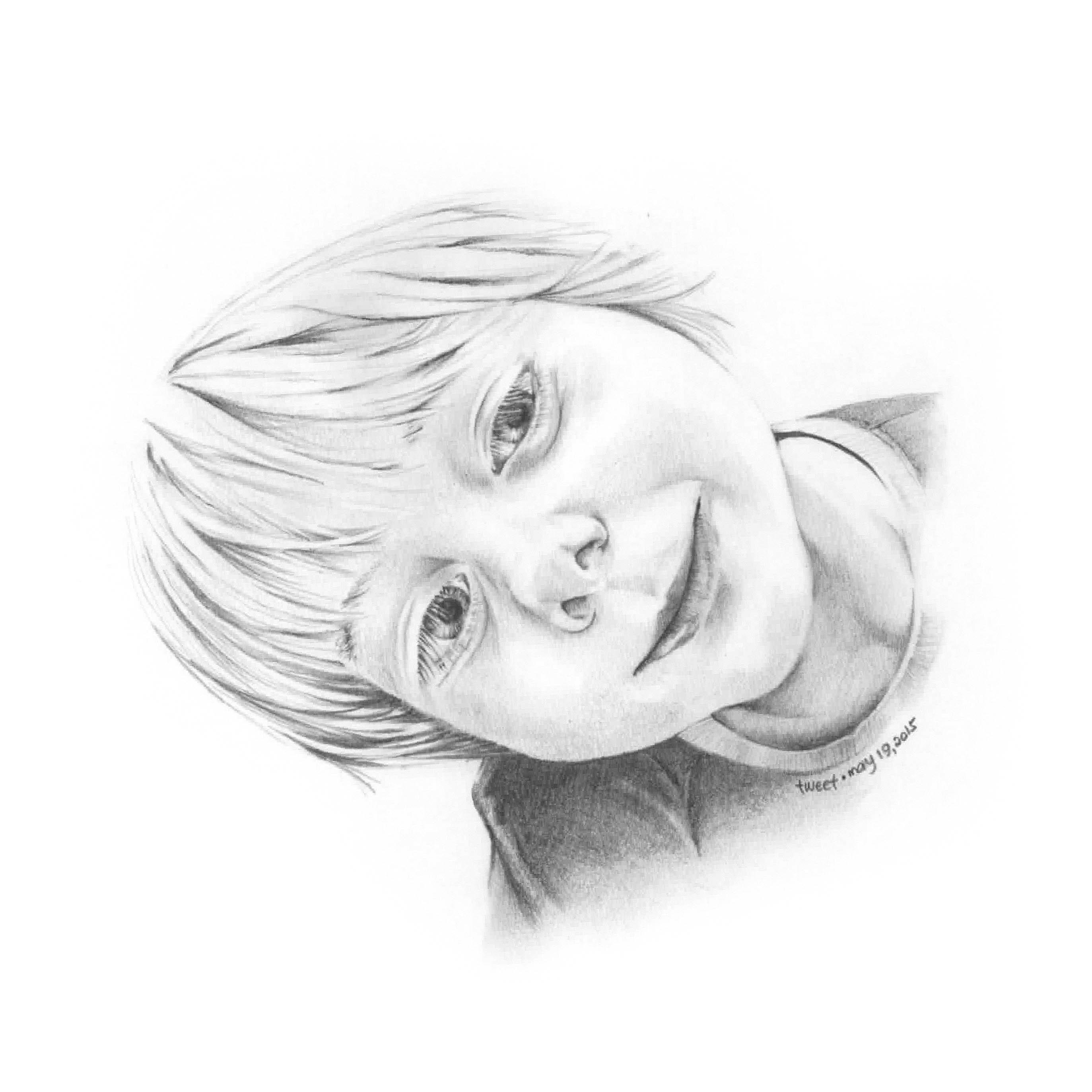 Pencil Illustration - Tillman Portrait