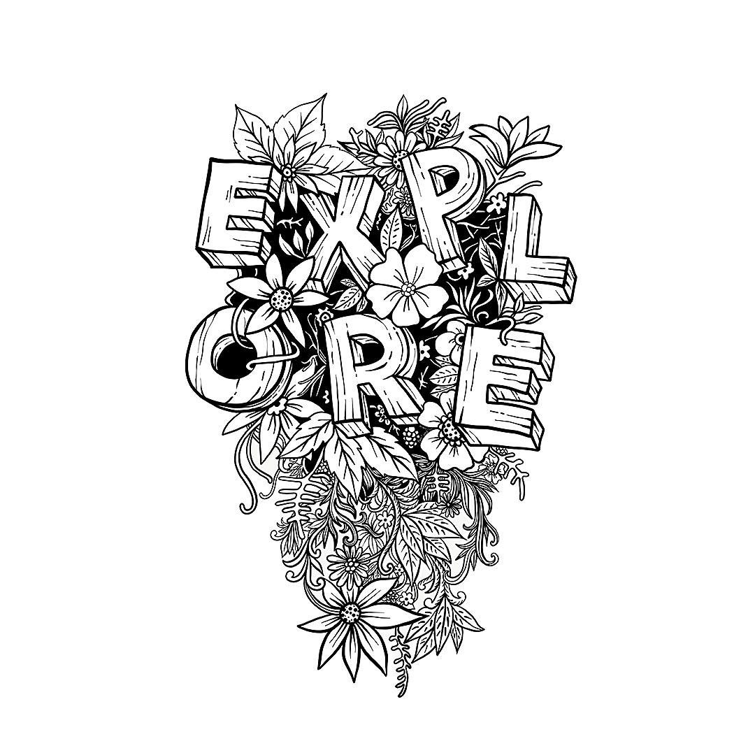 Pen Illustration - Explore the Wilderness