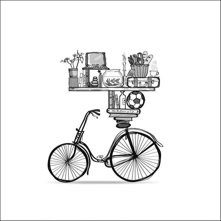 Pen Illustration - Bicycle Life