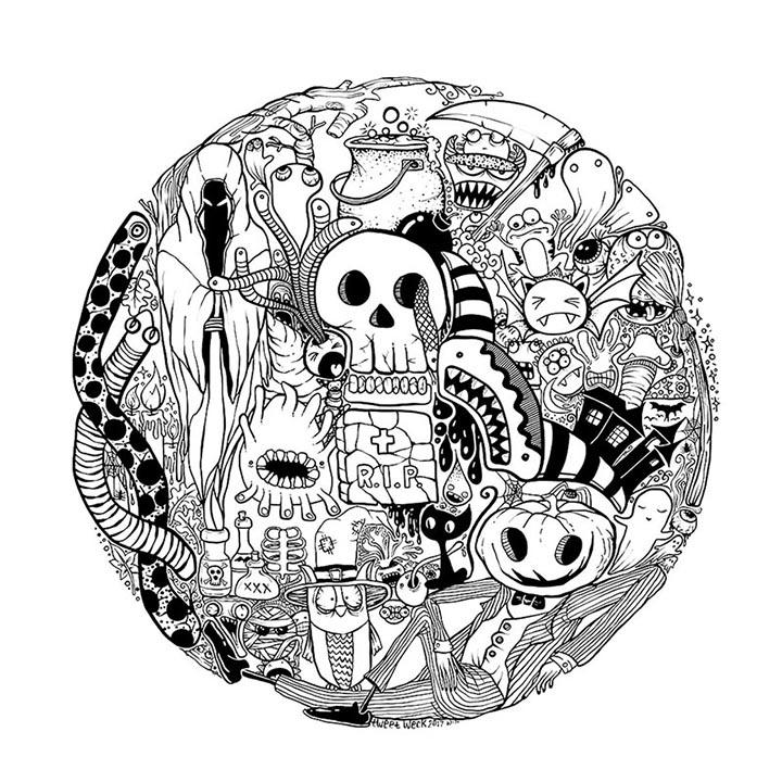 Pen Illustration - Halloween Doodle