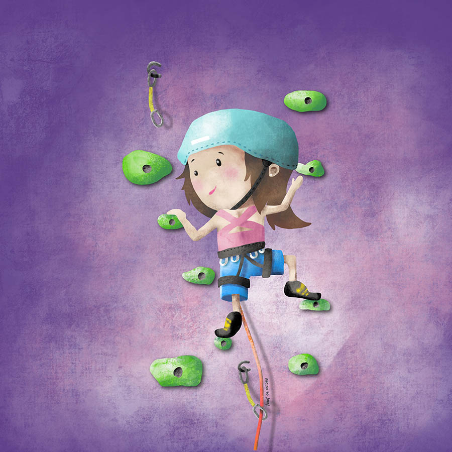 Colored Illustrations - Baby Climber