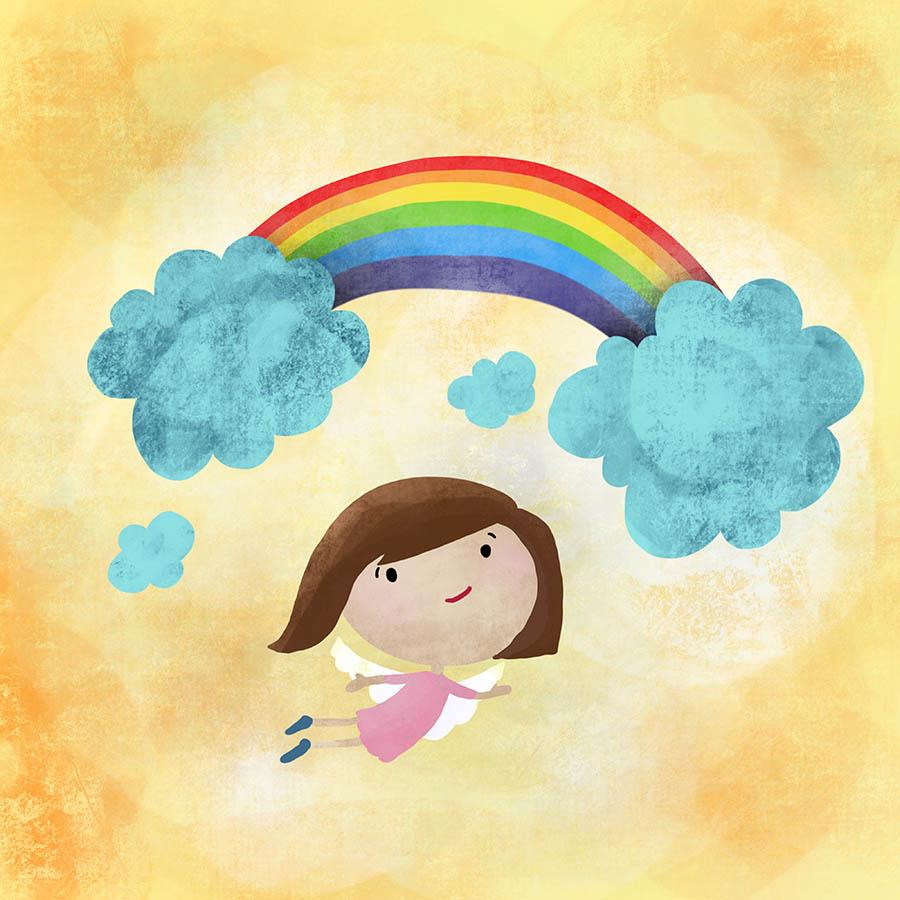 Colored Illustrations - Rainbow Angel