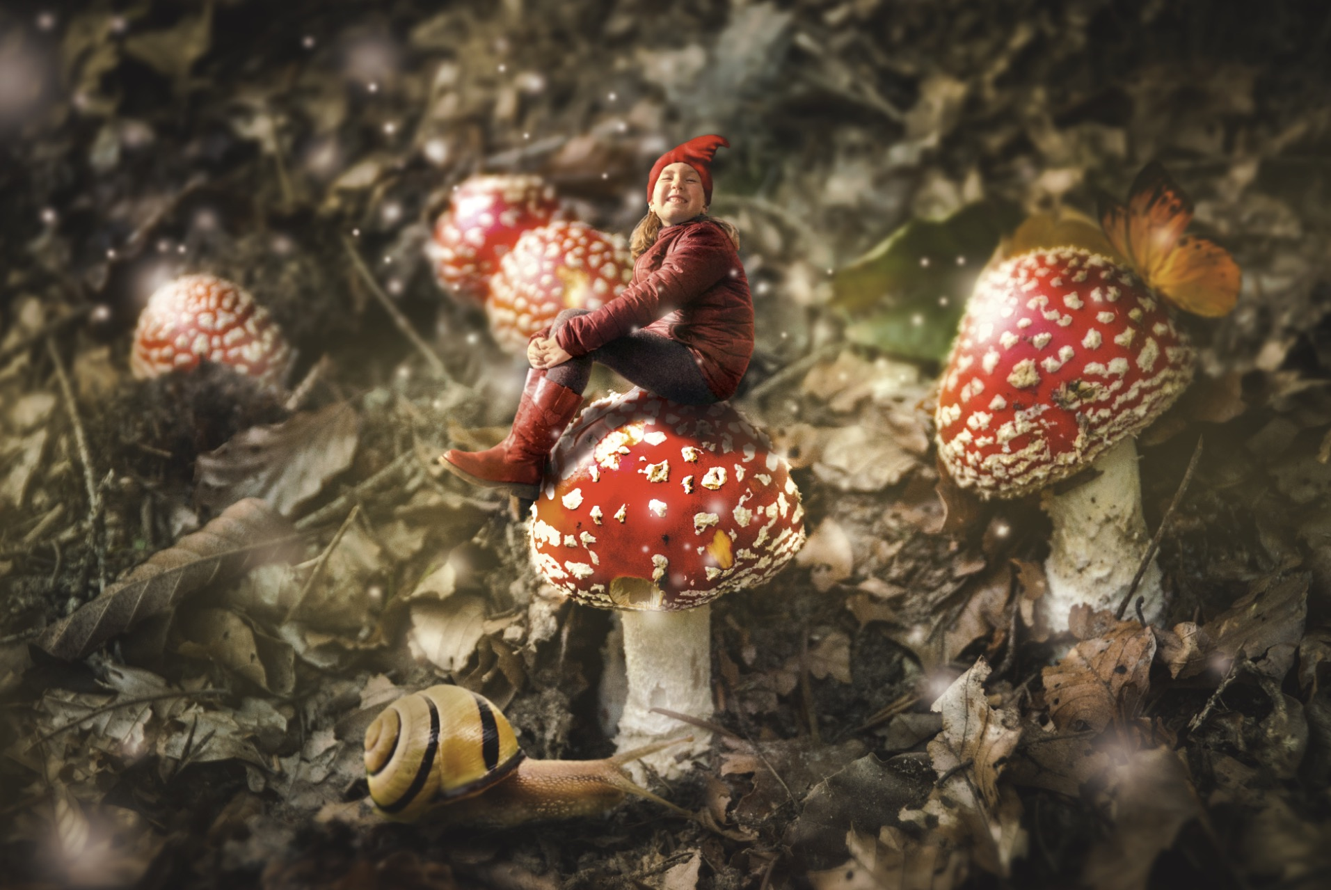 Surreal Photography - Romi the Mushroom Gnome