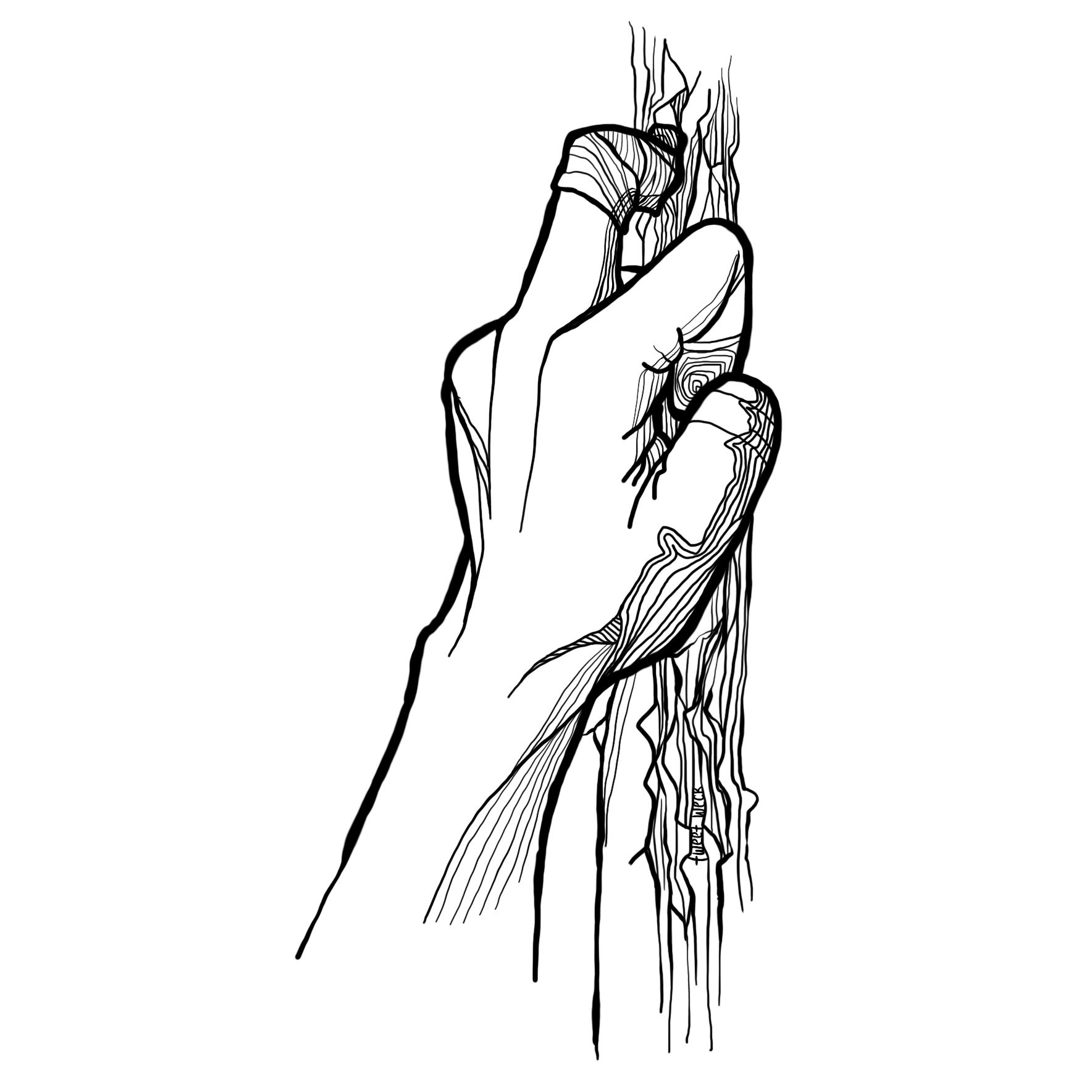 Pen Illstration - Finger Hold (Almost There)