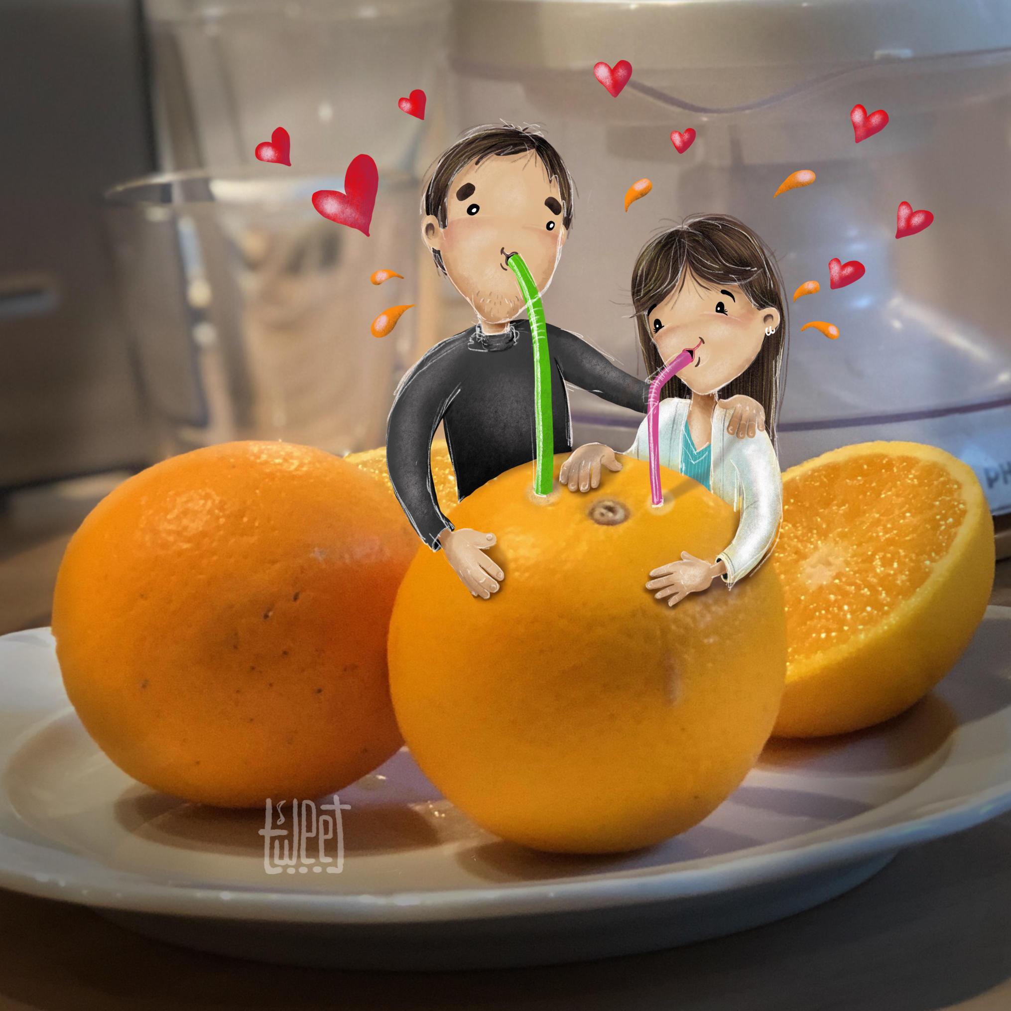 Photo Bombing - Fresh Orange Juice