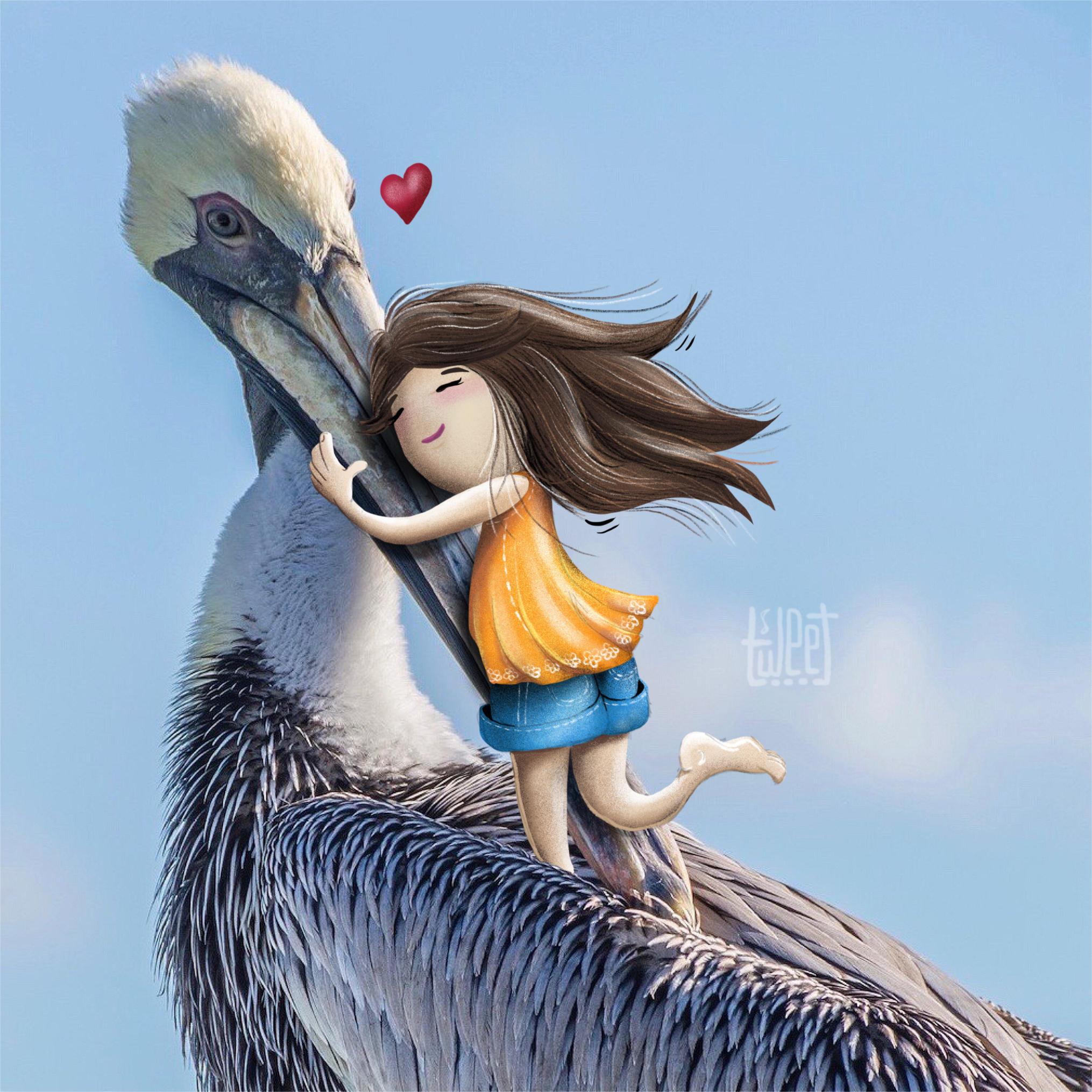 Photo Bombing - I Love Pelicans